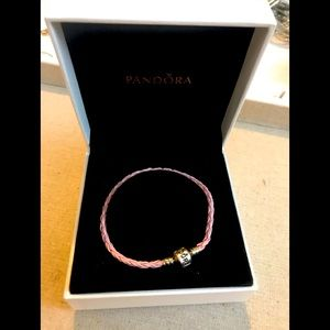 Gently used Pandora bracelet. Pink.